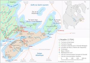 L'Acadie au coeur du conflit franco-britannique en 1754.