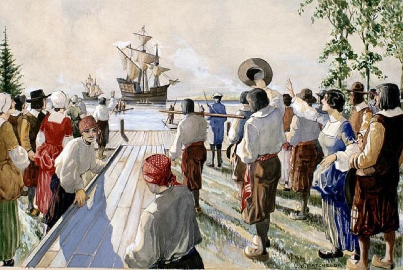Arrivée des migrants en Nouvelle-France