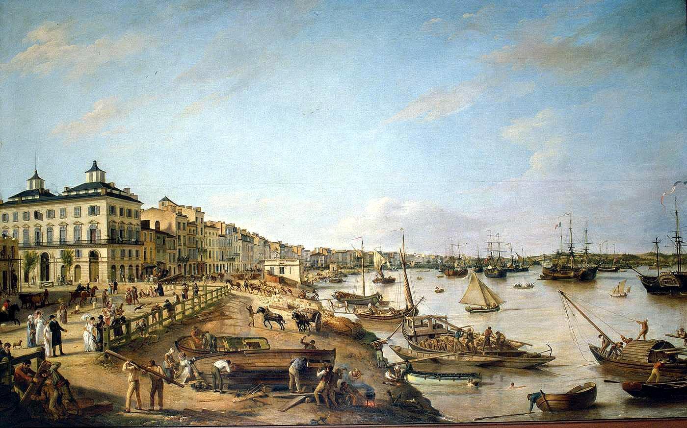 Peinture du port de Bordeaux au XVIIIe siècle