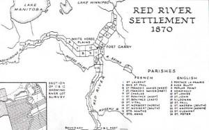 Colonie de la rivière rouge, vers 1870