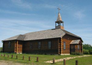 Pèlerinage de Saint-Laurent-Grandin, le long de la rivière Saskatchewan Sud